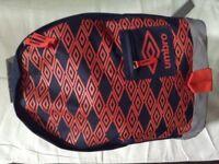 Umbro school bag brand new sealed Blk/red