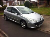 PEUGEOT 307 1.6, 2007 REG WITH FULL MOT, LOW MILEAGE, FULL HISTORY, NICE SPEC WITH ALLOYS & AIR CON