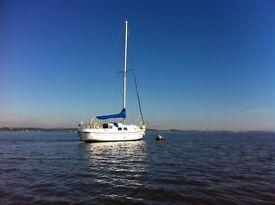 Westerly Berwick yacht for sale - new Beta 25 engine - near Edinburgh