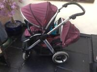Oyster max special edition damson double pram