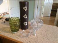 Vases and glassware