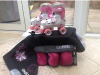 Girls SFR Racing Storm Adjustable Quad Skates size 12-2