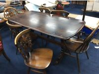 Ercol Table And 6 Chairs