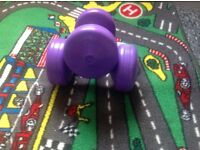 Pair of 3Kg Eurofit Dumbbells (Purple)