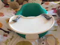 Bumbo seat with play tray.
