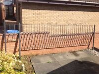 2 x Gates and length of railing. Blacksmith made so are made to last.