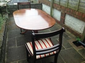 OVAL TABLE WITH TWO FREE CHAIRS -can deliver
