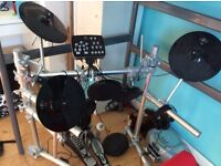 Drum kit with head phones so quiet!
