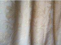 Curtains in Heavy Brocade with Shaped Pelmet