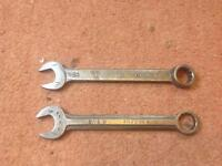 2 x combination spanners
