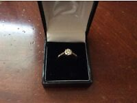 Lovely Vintage Gold and Diamond Ring
