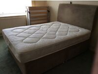 Double Divan Bed with Mattress & Headboard