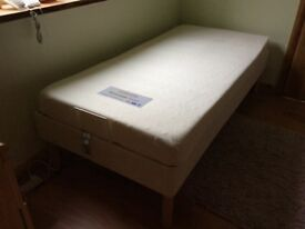 Single electric bed with memory foam mattress