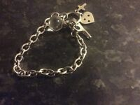 Silver tone storm braclet lovely cond grab a bargain at 15 pounds or offers