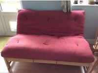 Futon Company Linear Sofa Bed Birch Wood Base+Thick Sofabed Mattress Cost £649 (Can Deliver)
