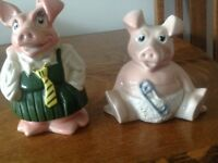 Nat West Wade pig money boxes.