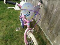 "Girls Disney Princess bike, 14"""