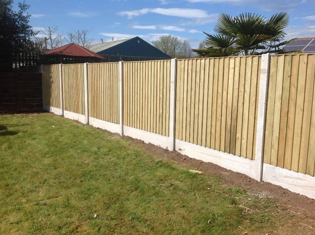 Heavy Duty Vertical Board Fence Panels Tanalised Pressure