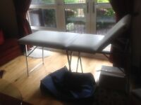 Massage / Beauty portable table with case and towels made by Zetam