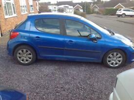 Peugeot 207 Blue