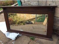 Victorian mirror/overmantle