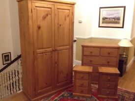 Wardrobe, Chest of Drawers & Bedside Tables