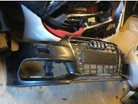2014 ONWARDS AUDI S3 8V3 S LINE FRONT BUMPER WITH GRILL GENUINE