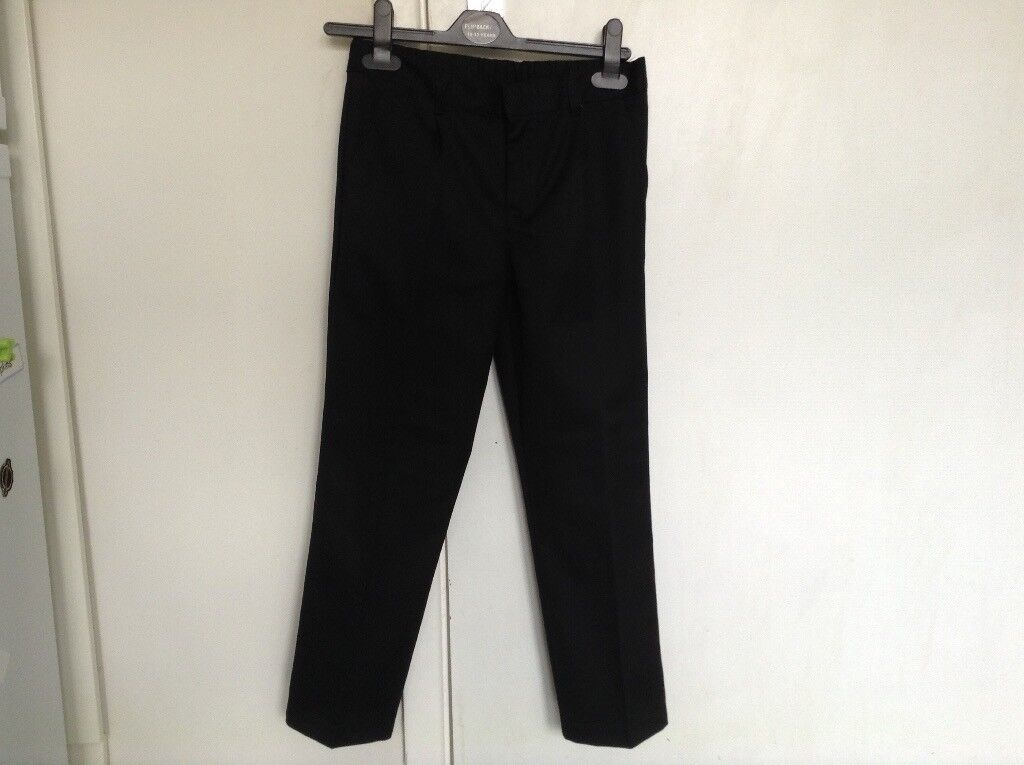 F&F black trousers 7-8yrs