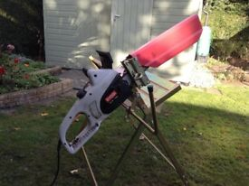 Chainsaw electric including sawhorse