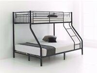 Attractive Design ! Trio Sleeper Metal Bunk Bed Good Deal with Mattress