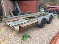 Twin wheel car trailer transporter