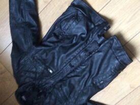 Kids faux leather jacket 9-10