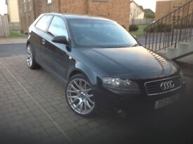 Selling my Audi A3 1.6l black , alloys