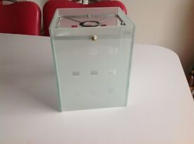 Square glass lamp shade