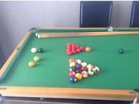 Snooker table, 5 x 3
