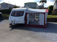 Caravan 2 Berth with awning, mover, and accessories.