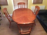 Extending Dining Table & Four Chairs
