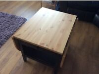 Almost new ikea drop leaf coffee table with drawer