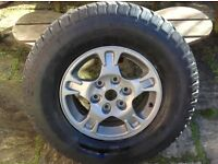 Mitsubishi shogun / pajero wheels with tyres set 4 and brand new spare tyre