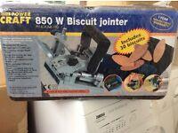 New sealed biscuit jointer 850 watt