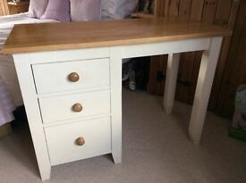Cream painted pine dressing table/desk