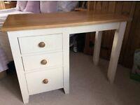 Cream painted pine dressing table/desk