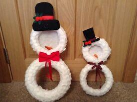 Xmas hand made wreaths