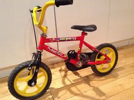 Boys RALEIGH 12 Inch Bike - Hero Red/Yellow - Solid Rubber Tyres