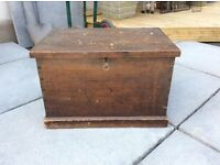 Small blanket box with key