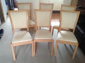 5x3 table & 6 chairs great condition