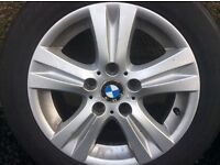 Genuine BMW alloys and new tyres