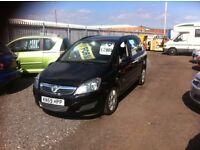 Vauxhall Zafira, 59,000 miles, service history, full MOT, excellent family car, bargain price!