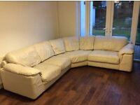 ScS Leather corner sofa - 2seater+corner+3seater