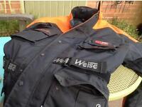 Motor bike padded jacket